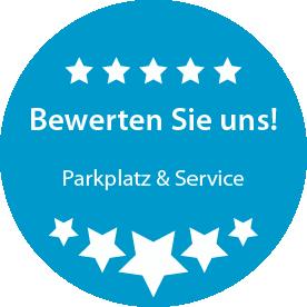 Bewerten Sie unseren Parkplatz am Flughafen Leipzig